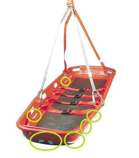 Lifeguard Umlaufendes Nylonseil Randseil Korbtrage, 5,3 m